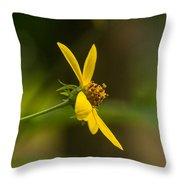Wodland Flower With Curlicue On Top Throw Pillow