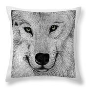 Wolf 2 Throw Pillow
