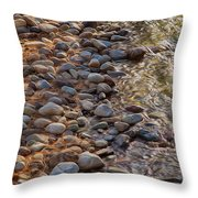 Wolf Creek Upstream Throw Pillow by Omaste Witkowski