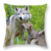 Wolf Of Minnesota Throw Pillow