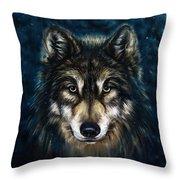 Wolf Head Throw Pillow