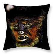 Wolf Man Original Work One Throw Pillow