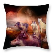 Wolf Mountain Throw Pillow