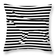 Wolf Optical Illusion Throw Pillow