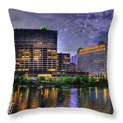 Wolf Point Panorama Throw Pillow