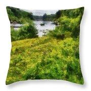 Wolf River Throw Pillow