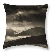Wolf Rock At Stone Mountain State Park  Throw Pillow