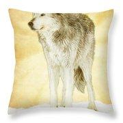 Wolf Shine Throw Pillow