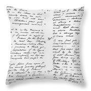 Wolfe Journal, 1759 Throw Pillow
