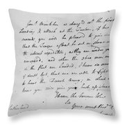 Wolfe Letter, 1759 Throw Pillow