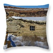 Wolfe Ranch Cabin Arches National Park Utah Throw Pillow