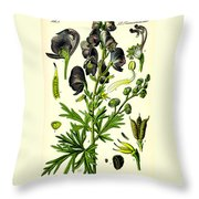 Wolfsbane Throw Pillow by Georgia Fowler