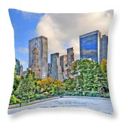 Wollman Rink In Central Park Throw Pillow