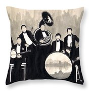 Wolverines B And W Throw Pillow