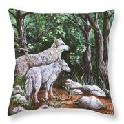 Wolves In South Dakota Throw Pillow