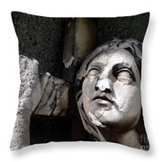 Woman And Cross Throw Pillow
