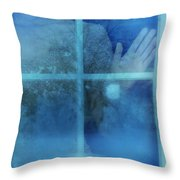 Woman At A Window Throw Pillow