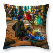 Woman At Rest Throw Pillow