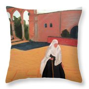 Woman At The Wall Throw Pillow