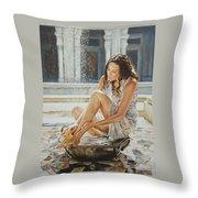 Woman Bathing 2013 Throw Pillow