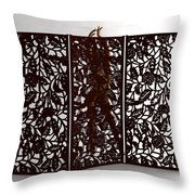 Woman Behind The Screen... Throw Pillow