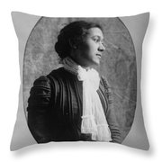 Woman, C1900 Throw Pillow
