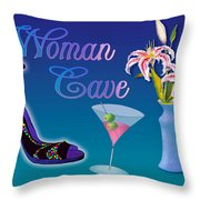Woman Cave With Stargazers Throw Pillow