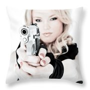 Woman Defense Throw Pillow