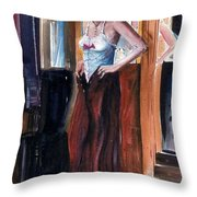 Woman Dressed Throw Pillow