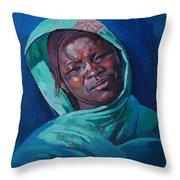 Woman From Darfur Throw Pillow