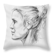 Woman Head Study Throw Pillow
