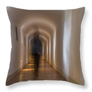 Woman In A Tunnel Throw Pillow