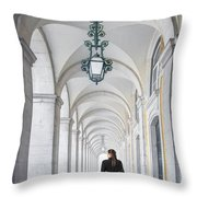 Woman In Archway  Throw Pillow
