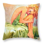 Woman In Blissful Ecstasy Throw Pillow