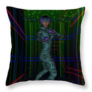 Woman In Cyber Passage Throw Pillow