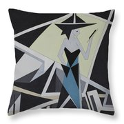 Woman In Reflection Throw Pillow