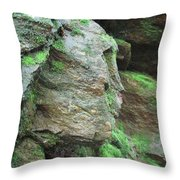 Woman In Rock Throw Pillow