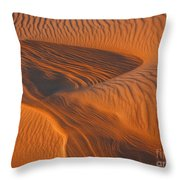 Woman In The Dunes Throw Pillow