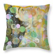 Woman In Worship Throw Pillow