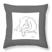 Woman Kneeling Throw Pillow