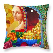Woman Of Jerusalem Throw Pillow