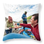 Woman Serving Appetizers, Alsek River Throw Pillow
