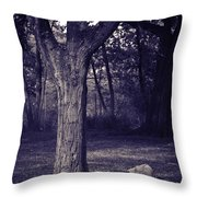 Woman Under A Tree Throw Pillow