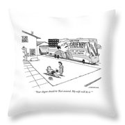 Rest Assured. My Wife Will Do It. Throw Pillow