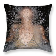 Woman Splashing Water Throw Pillow