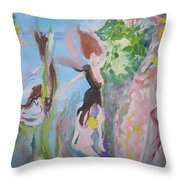 Woman The Nurturer Throw Pillow
