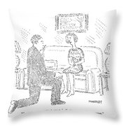 Woman To Man After He Has Just Proposed To Her Throw Pillow