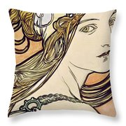 Woman With A Headscarf Throw Pillow