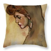 Woman With Hood Throw Pillow