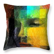 Woman With Red Hair Throw Pillow